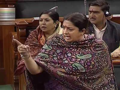 Congress files privilege motion against Smriti Irani