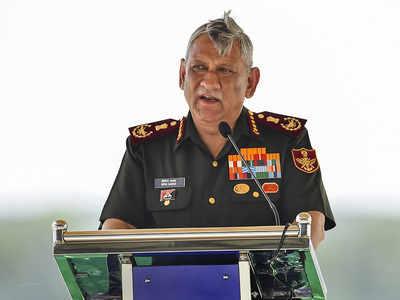 CDS Rawat says difficult to predict war scenario with Pakistan