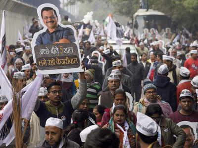 Delhi Assembly polls: Kejriwal holds roadshow, fails to file nomination