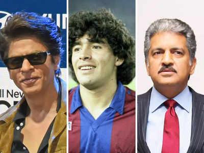 'Dance on in the heavens': SRK, PeeCee & Anand Mahindra pen heartfelt tributes for football legend Diego Maradona