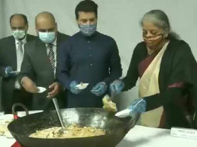 Traditional 'halwa ceremony' held at Finance Ministry, ahead of Union Budget