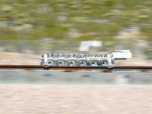 Watch Hyperloop One Propulsion Open Air Test Animation The Economic Times Video Et Now