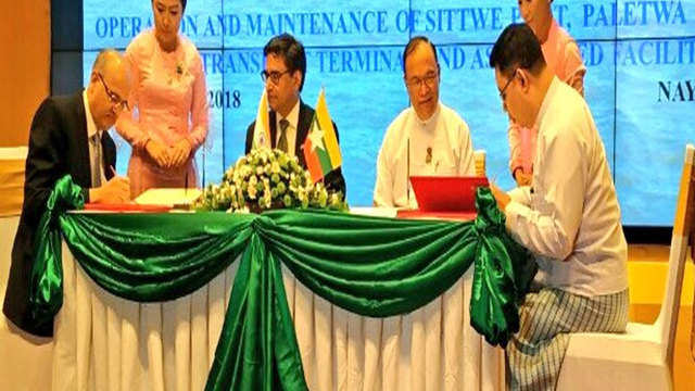 India, Myanmar sign MoU towards Sittwe Port