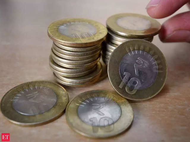 Indian ten rupee coin