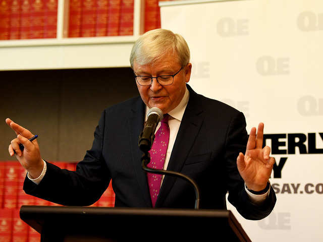 Former Australian Prime Minister Kevin Rudd Says Us China War No Longer Inconceivable The Economic Times