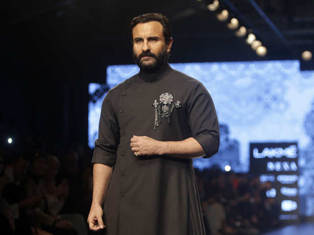 2cb950dd ... heads with her black outfit, better half Saif Ali Khan stole the show  with his regal (but, naturally!) look conceptualised by Shantanu and Nikhil.