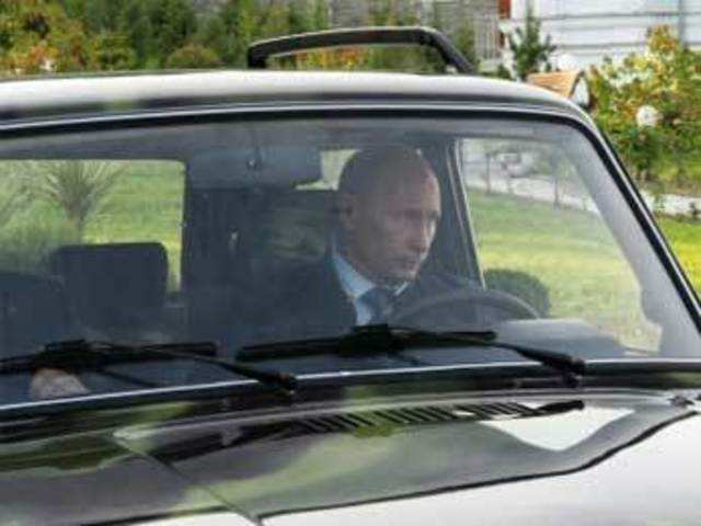 Russian Pm Vladimir Putin Shows Off New Car The Economic Times
