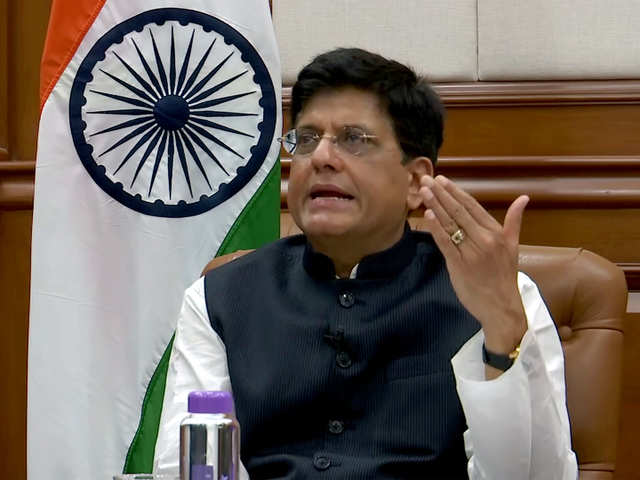 piyush goyal: Government working on setting up single window system for  clearances: Piyush Goyal - The Economic Times