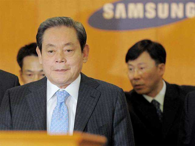 Samsung chairman Lee Kun-hee, head of S.Korea's biggest conglomerate, dies  at 78 - The Economic Times