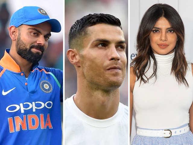 top 3 instagram followers in india Kohli Priyanka Chopra Among Instagram S Highest Paid Celebs Ronaldo Tops The List The Economic Times